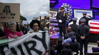 Protests in Minnesota, an officer's funeral in Dallas