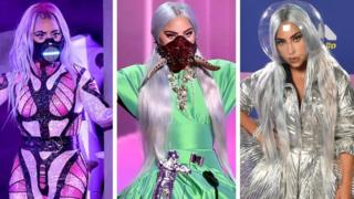 Lady Gaga in masks