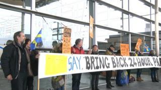 Withybush hospital protest