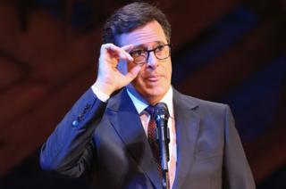 Late Show host Stephen Colbert pictured at Broadway's Jacobs Theater on 19 September, 2016.