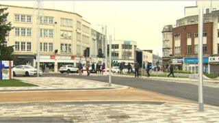 Swansea Kingsway: Revamp is completed after delays