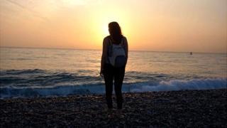 Gemma at the beach