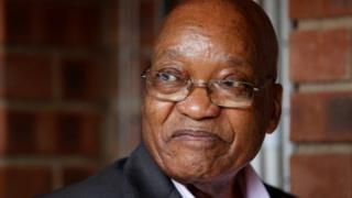 Prezida Jacob Zuma wa Afrika yepfo akekwako ukunyuruza amahera y'igihugu
