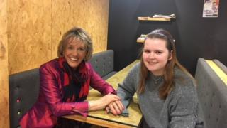 Esther Rantzen and Hollie Evans