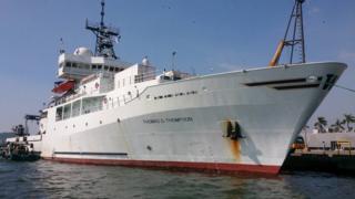 美军研究船