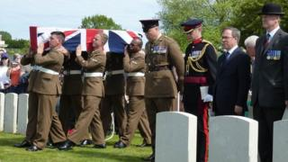 Reburial of Private Henry Parker