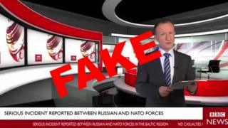 Fake BBC News report featuring actor Mark Ryes