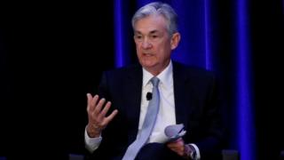 U.S. Federal Reserve Chairman Jerome Powell speaks at the American Economic Association/Allied Social Science Association (ASSA) 2019 meeting in Atlanta, Georgia, U.S., January 4, 2019.