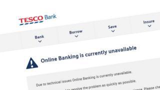 Tesco Bank screenshot