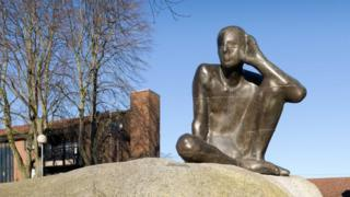 Antony Gormley sculpture in Camden