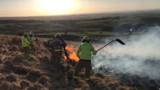 Darwen moorland fire