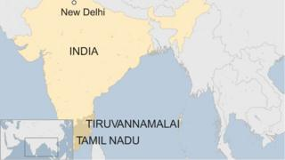 Map of Tamil Nadu state in India