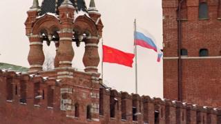 Sovyet ve Rus bayrakları