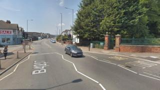 Chepstow Road near Beechwood park in Newport