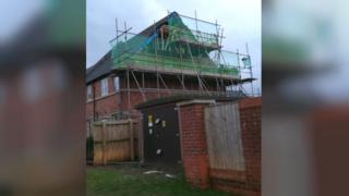 Prospect Homes is rebuilding the wall of the property on Byers Walk, Buckshaw Village
