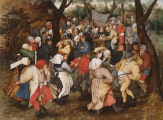Wedding Dance in the Open Air - Pieter Bruegel the Younger (detail)