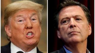 Donald Trump and James Comey composite image