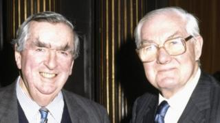 Dennis Healey and Lord James Callaghan