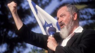 Haham Kahane 1990 yılının mayıs ayında İsrail'de bir konuşma yaparken