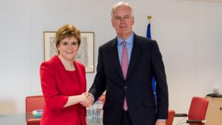Nicola Sturgeon and Michel Barnier