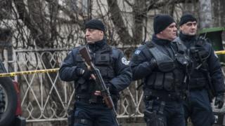 Policija Kosova u Kosovskoj Mitrovici, 16. januar 2018.