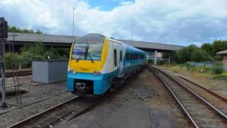 An Arriva Trains Wales 175 class at Llandudno Junction, Conwy