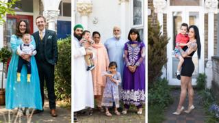 Portraits of people on their doorstep