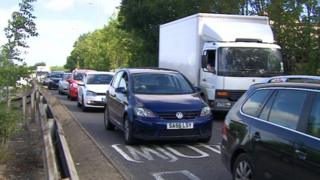 The average speed of traffic in rush hour across the county fell from 14.2mph to 13.1mph between 2010 and 2015