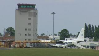 Cambridge Airport control tower