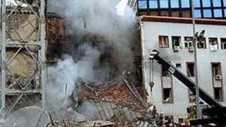 Zgrada RTS nakon bombardovanja 1999.