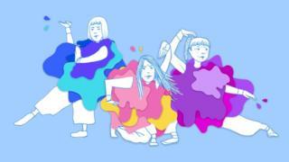 سه زن در ژستهای مختلف