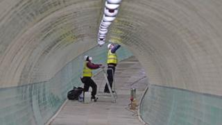 Work on Tyne pedestrian tunnel