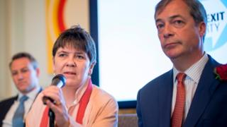Claire Fox with Nigel Farage