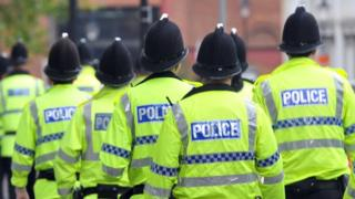 Police officers in Manchester in 2011