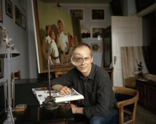Ivan Razumov in his studio