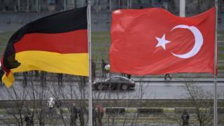 Türkiye ve Almanya bayrakları