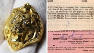 Elvis gild ring and contract