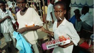 'Yan Somalia masu sayar da taba