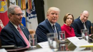 Trump held a National Economic Council 'listening session' with the CEOs on Thursday
