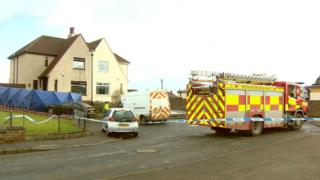fire engine at house