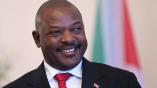 Le président du Burundi Pierre Nkuruziza, lors d'une visite à Berlin.