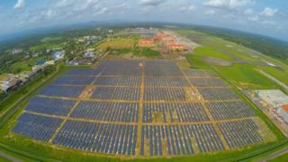 How is the world's first solar powered airport faring?