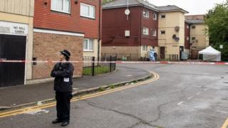 Police in Byford Close