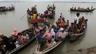 Rohingya refugees arrive from Myanmyar in Bangladesh. Photo: 7 October 2017