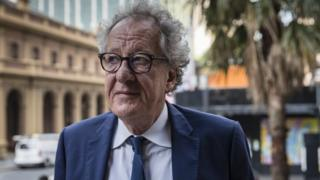 Actor Geoffrey Rush outside a Sydney court in November