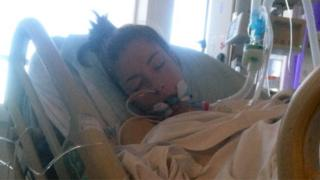 Lora D'Alesio no hospital