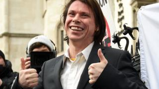 Lauri Love outside court