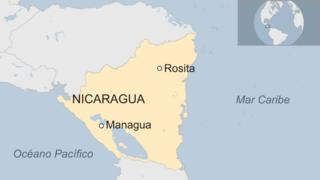 Mapa de Rosita, Nicaragua