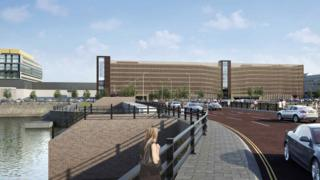 CGI images of the proposed car park