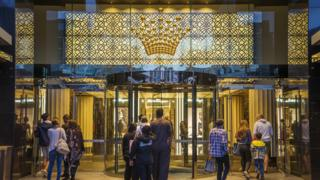 The entrance of Crown Casino in Melbourne